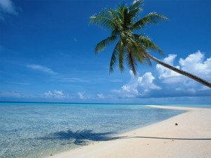 Sandy beach holiday