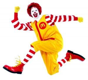 The famous Ronald McDonald