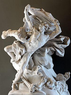 Prometheus sculpture in Louvre museum